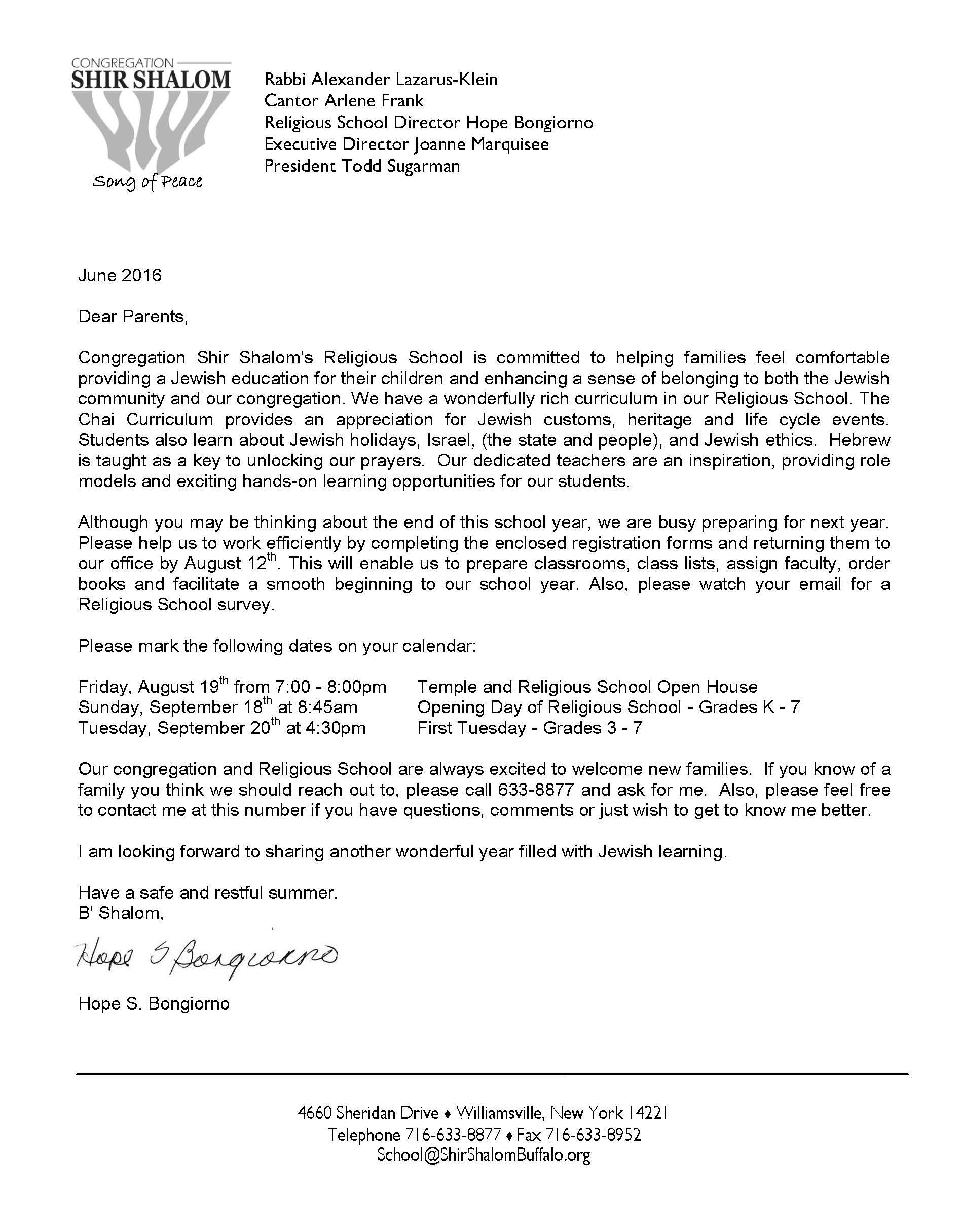 registration cover letter 2016